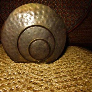 VINTAGE BRASS DRIED FLORAL CONTAINER